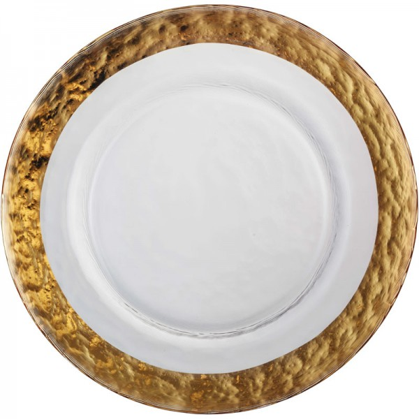 Eisch Servieren: Teller, Platten, Hauben Platzteller, Colombo Gold (515/34) 34 cm