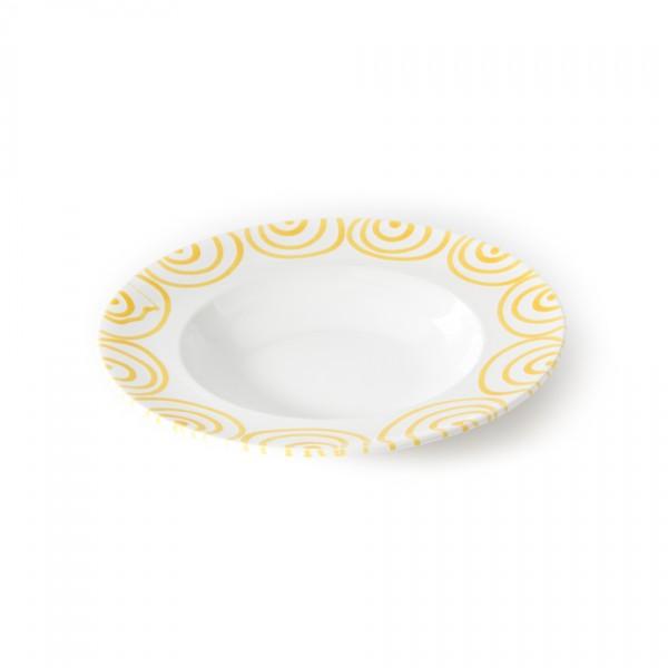 Gmundner Keramik Gelbgeflammt Pastateller Gourmet (TEGO29) 29 cm