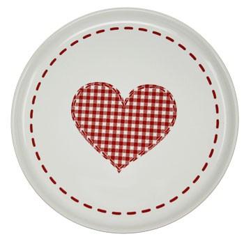 Friesland Happymix Winterzauber Frühstücksteller Herz weiß 19 cm