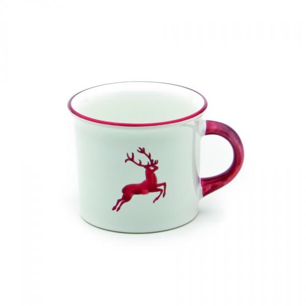 Gmundner Keramik Rubinroter Hirsch Kaffeehäferl glatt (HKGL09) 0,24l
