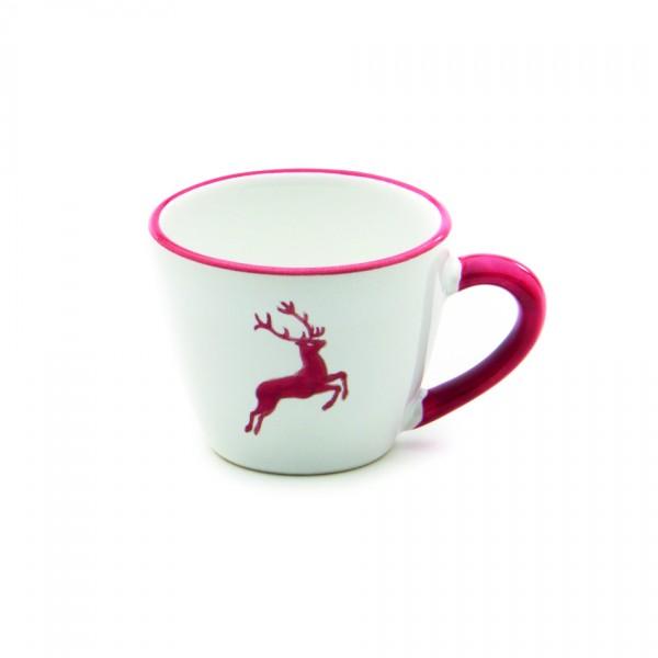 Gmundner Keramik Rubinroter Hirsch Espresso-/Mokka-Obertasse Gourmet (TEGO06) 0,06l