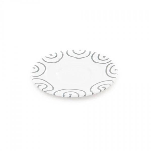 Gmundner Keramik Graugeflammt Kaffee-Untertasse Gourmet (TUGO16) 16 cm
