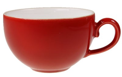 Friesland Happymix Rot NEU-Kaffeeobere innen weiß 0,25 l
