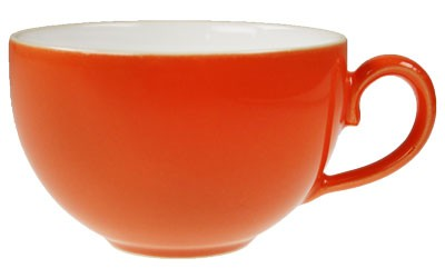 Friesland Happymix Orange NEU-Kaffeeobere innen weiß 0,24 l