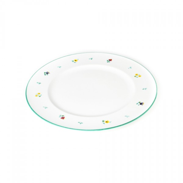 Gmundner Keramik Streublume Speiseteller m. Fahne Gourmet (TFGO27) 27 cm