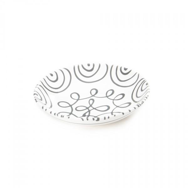Gmundner Keramik Graugeflammt Suppenteller cup classic (TSCU20) 20 cm
