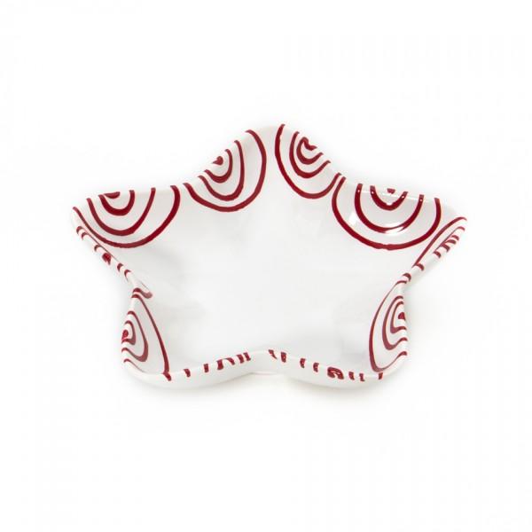 Gmundner Keramik Rotgeflammt Schale Stella (SAST14) 14 cm