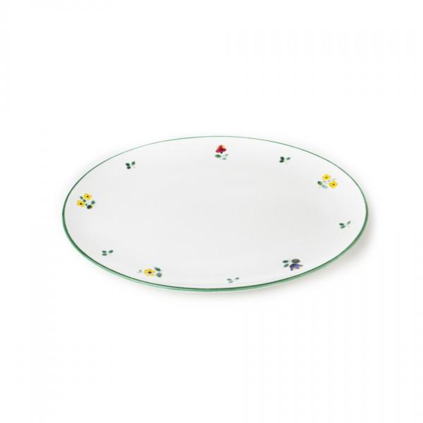 Gmundner Keramik Streublume Platte oval (POSE33) 33 x 26 cm