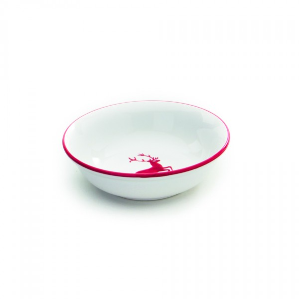 Gmundner Keramik Rubinroter Hirsch Kompottschale (SAKO14) 14 cm