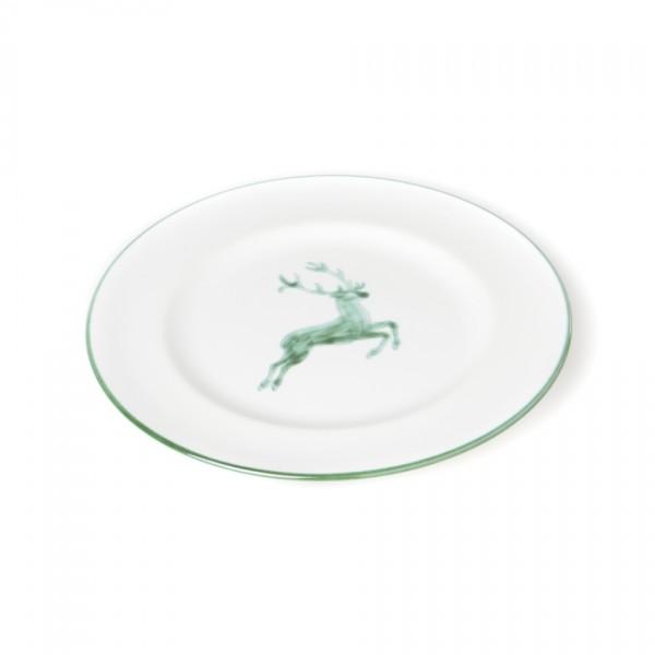 Gmundner Keramik Grüner Hirsch Frühstücksteller Gourmet mit Fahne (TDGO22) 22 cm