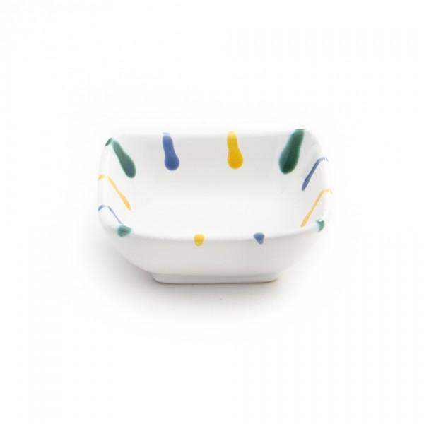 Gmundner Keramik Buntgeflammt Schälchen quadratisch SAQU09 9cm