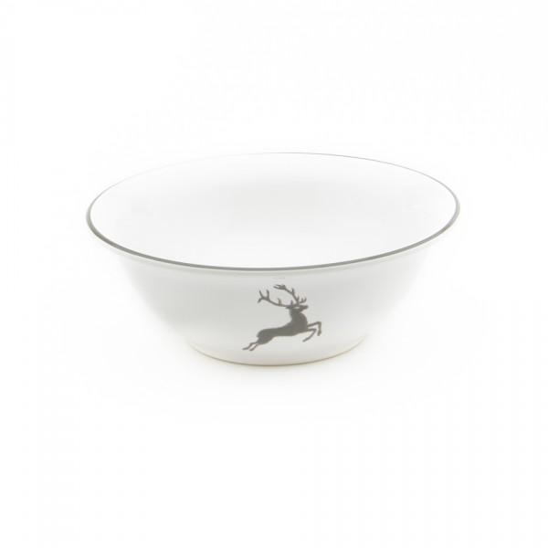 Gmundner Keramik Grauer Hirsch Salatschüssel rund (SRSA20) 20 cm