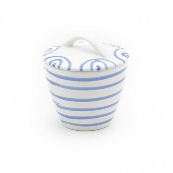 Gmundner Keramik Blaugeflammt Zuckerdose Gourmet (DZGO09) 9 cm