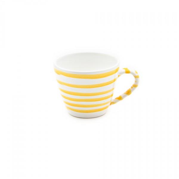 Gmundner Keramik Gelbgeflammt Kaffee-Obertasse Gourmet (TKGO09) 0,2 l