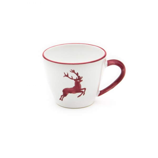 Gmundner Keramik Bordeauxroter Hirsch Kaffee-Obertasse Gourmet (TKGO09) 0,2 l
