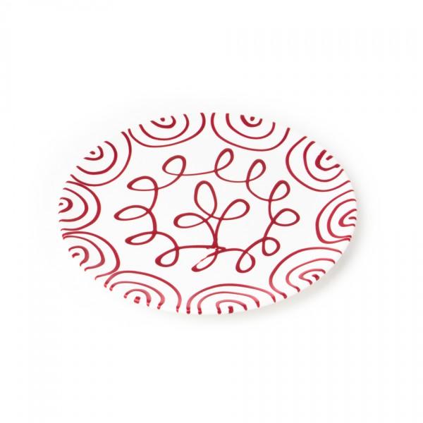 Gmundner Keramik Rotgeflammt Speiseteller Cup classic (TFCU25) 25 cm