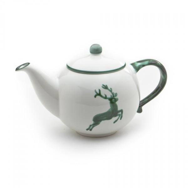 Gmundner Keramik Grüner Hirsch Teekanne glatt (KTGL08) 0,5 l