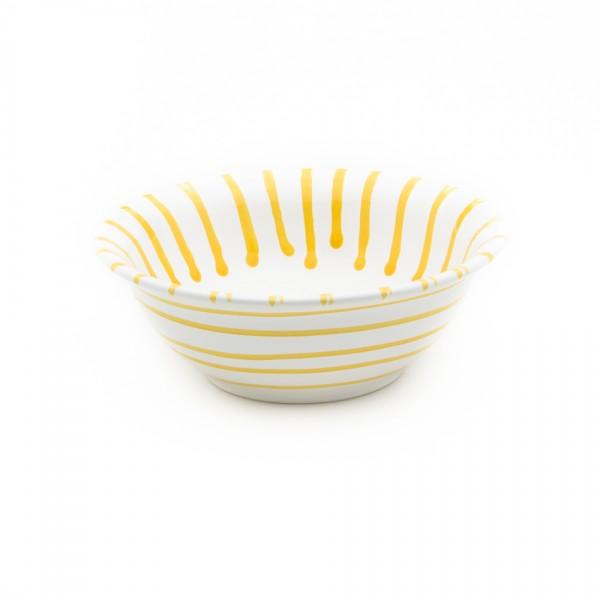 Gmundner Keramik Gelbgeflammt Salatschüssel rund classic (SRSA20) 20 cm