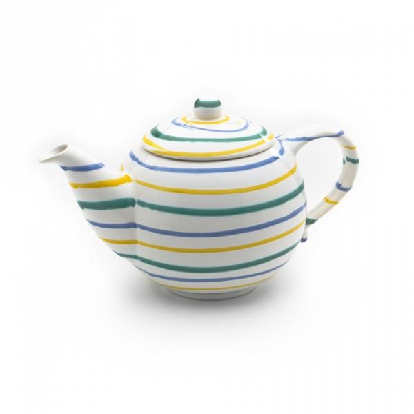 Gmundner Keramik Buntgeflammt Teekanne glatt KTGL10 1,5l