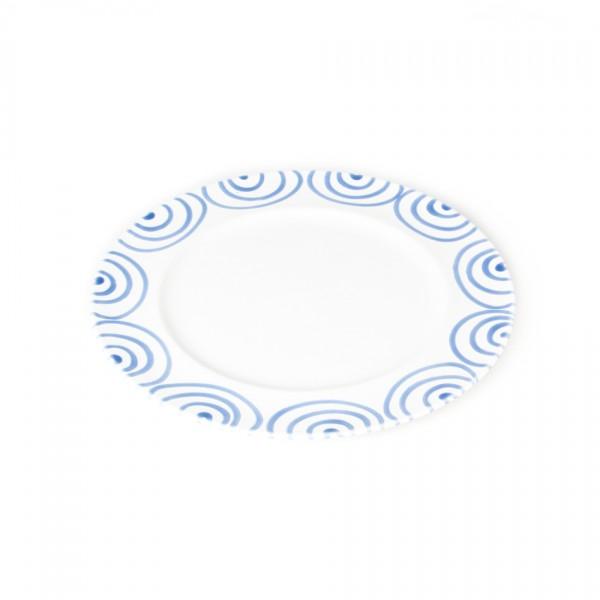 Gmundner Keramik Blaugeflammt Speiseteller m. Fahne Gourmet (TFGO27) 27 cm