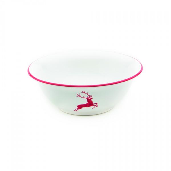 Gmundner Keramik Rubinroter Hirsch Salatschüssel rund (SRSA20) 20 cm