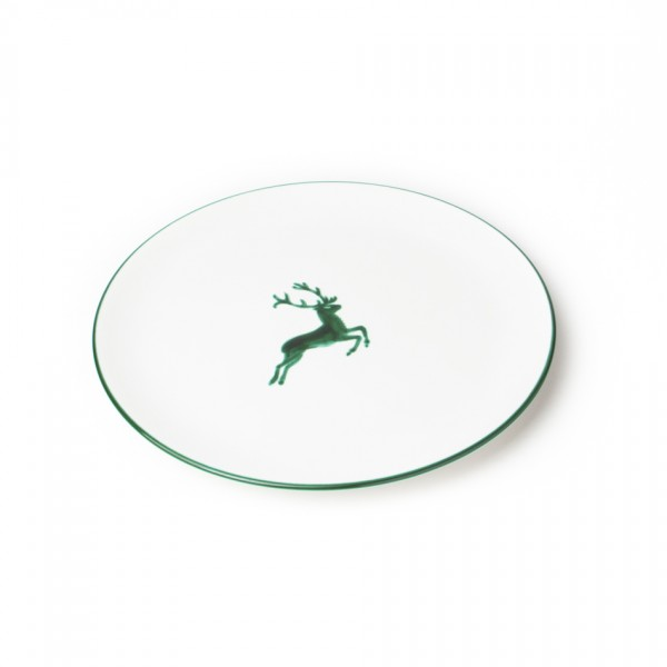 Gmundner Keramik Grüner Hirsch Gourmetteller/Platzteller Cup (TFCU32) 32 cm