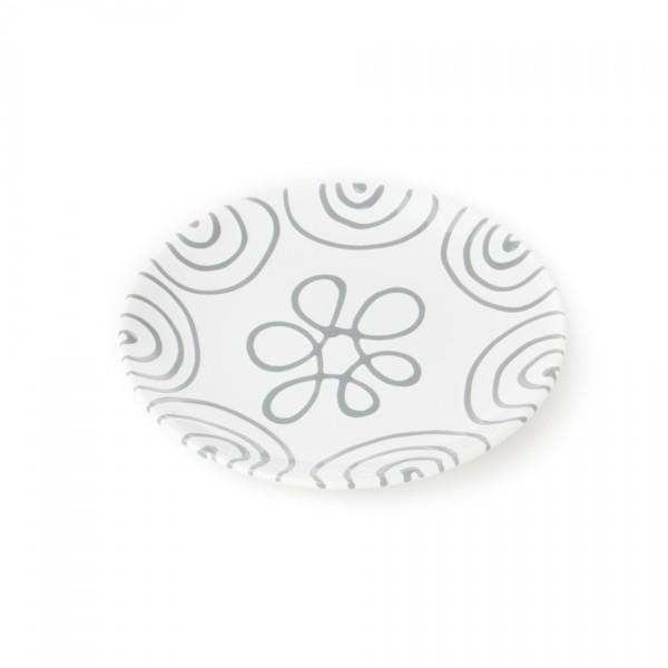 Gmundner Keramik Graugeflammt Frühstücksteller Cup classic (TDCU20) 20 cm