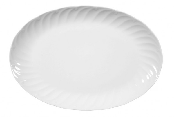Seltmann Leonore weiß uni 7 Platte oval 31 cm