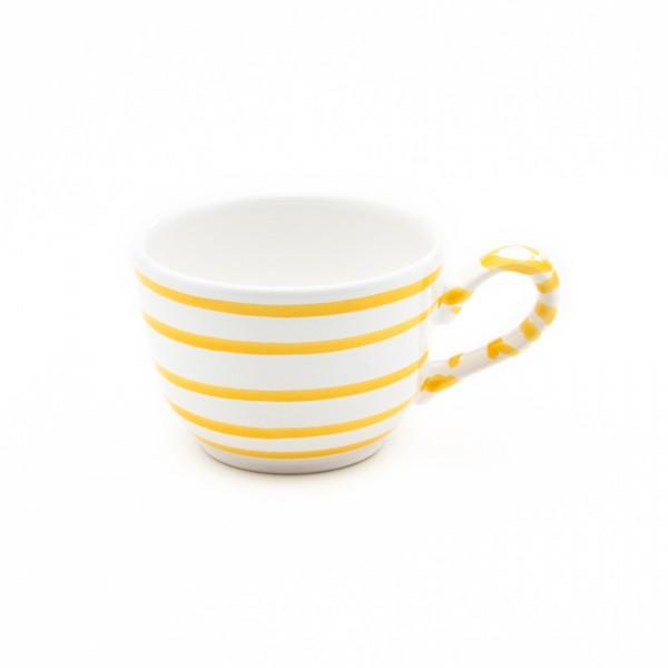 Gmundner Keramik Gelbgeflammt Kaffee-Obertasse glatt classic (TKGL10) 0,19 l