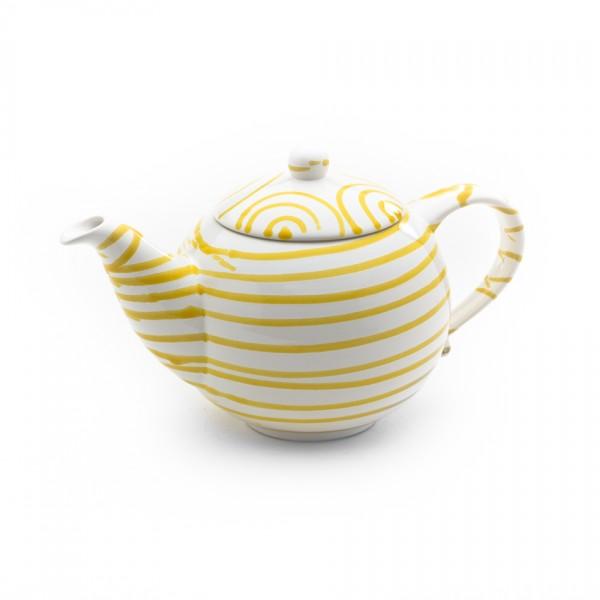 Gmundner Keramik Gelbgeflammt Teekanne glatt classic (KTGL10) 1,5 l