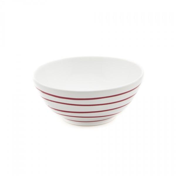 Gmundner Keramik Rotgeflammt Schüssel rund (SUSE23) 23 cm