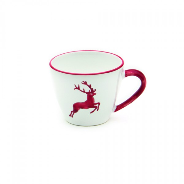 Gmundner Keramik Rubinroter Hirsch Kaffee-Obertasse Gourmet (TKGO09) 0,2 l