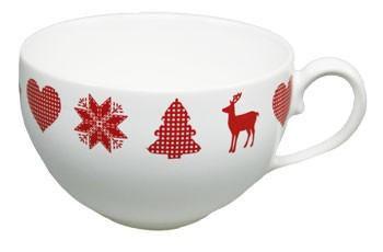 Friesland Happymix Winterzauber Kaffee-Obere weiß 0,24 l