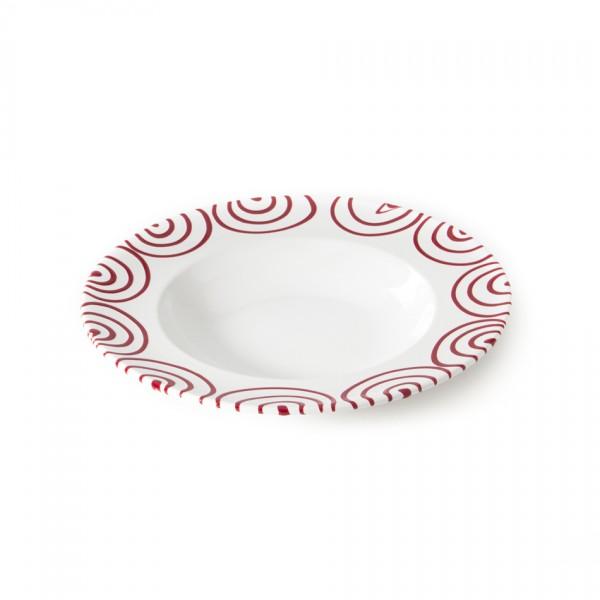 Gmundner Keramik Rotgeflammt Pastateller Gourmet (TEGO29) 29 cm