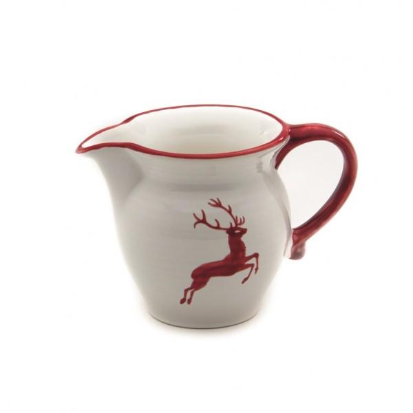 Gmundner Keramik Rubinroter Hirsch Gießer/Milch glatt (GMGL07) 0,5 l