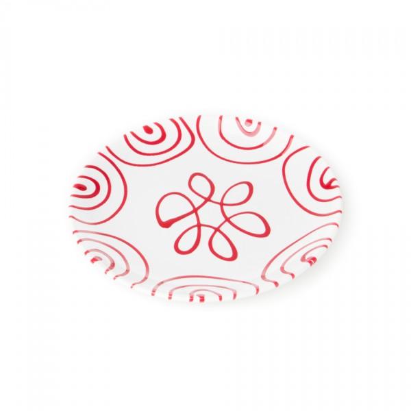 Gmundner Keramik Rotgeflammt Frühstücksteller Cup classic (TDCU20) 20 cm