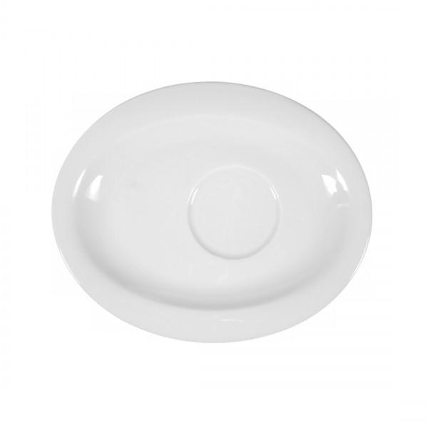 Seltmann Top Life uni weiß Untertasse oval 19 cm