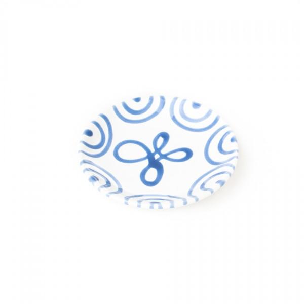 Gmundner Keramik Blaugeflammt Kaffee-/Tee-Untertasse glatt classic (TUCU15)