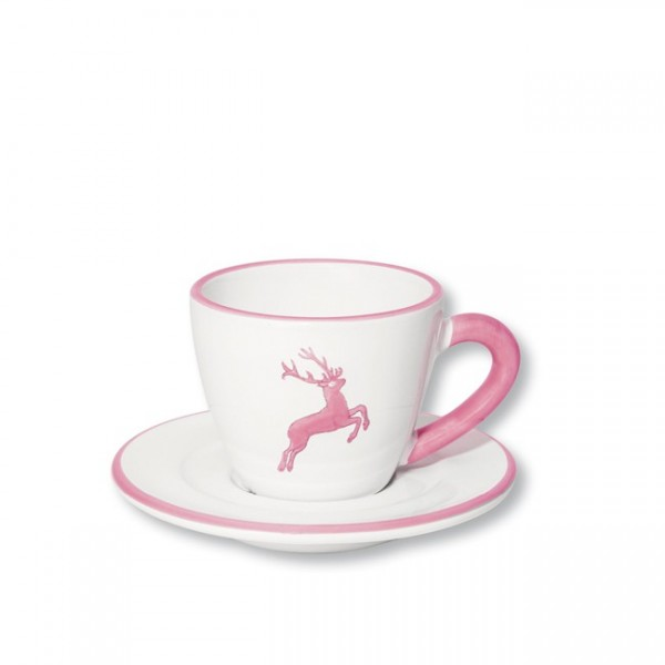 Gmundner Keramik Rosa Hirsch Espressotasse mit Unterer Gourmet