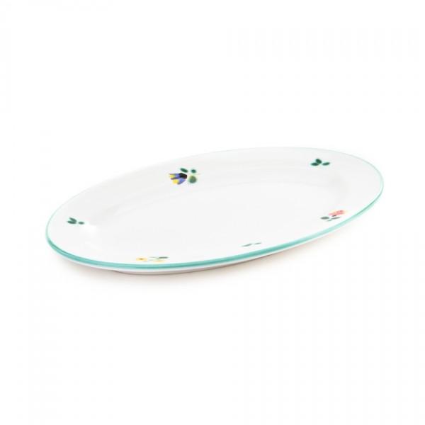 Gmundner Keramik Streublume Platte oval/Saucieren-Unterteil (POGO21) 21 x 14 cm