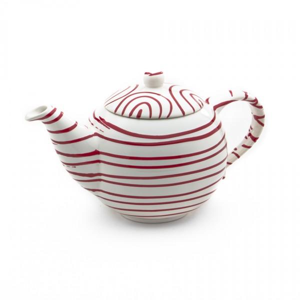 Gmundner Keramik Rotgeflammt Teekanne glatt classic (KTGL10) 1,5 l