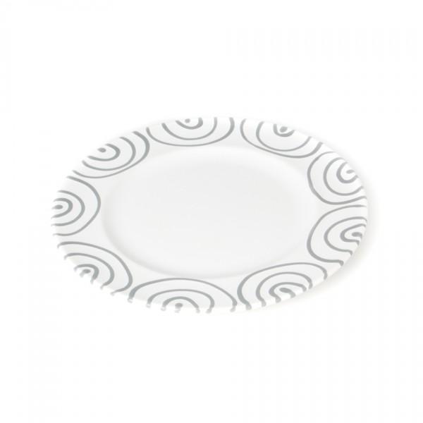 Gmundner Keramik Graugeflammt Speiseteller m. Fahne Gourmet (TFGO27) 27 cm