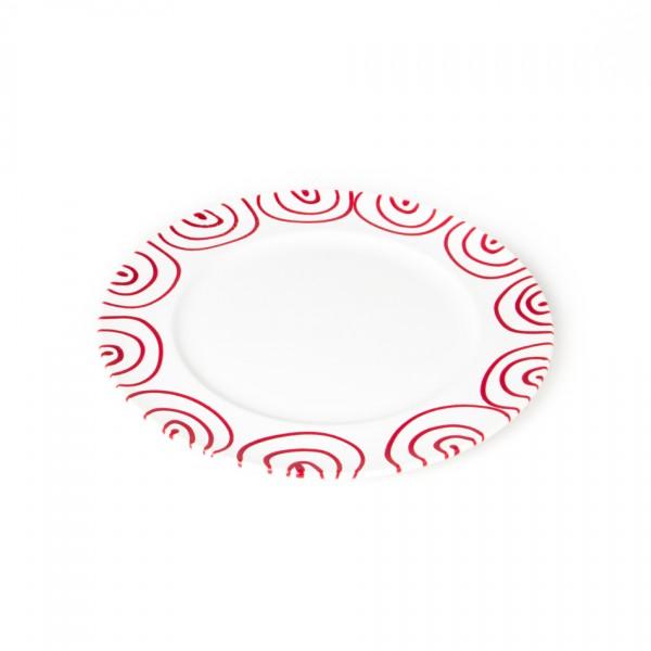 Gmundner Keramik Rotgeflammt Speiseteller m. Fahne Gourmet (TFGO29) 29 cm