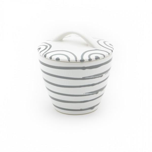Gmundner Keramik Graugeflammt Zuckerdose Gourmet (DZGO09) 9 cm