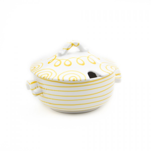 Gmundner Keramik Gelbgeflammt Suppentopf glatt/Terrine (TSGL23) 2 l