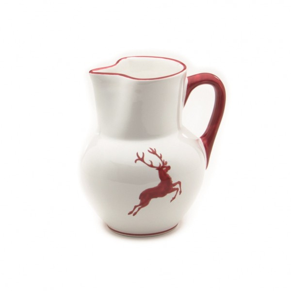 Gmundner Keramik Rubinroter Hirsch Krug Wiener Form (KRWF09) 1 l