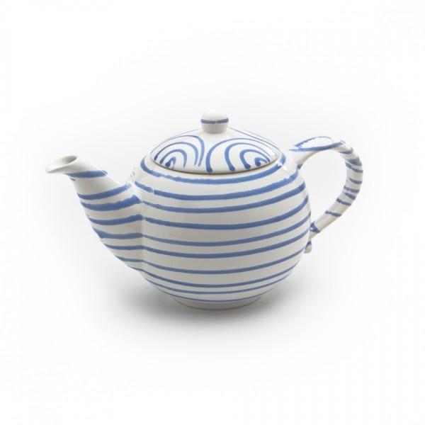 Gmundner Keramik Blaugeflammt Teekanne glatt classic (KTGL10) 1,5 l