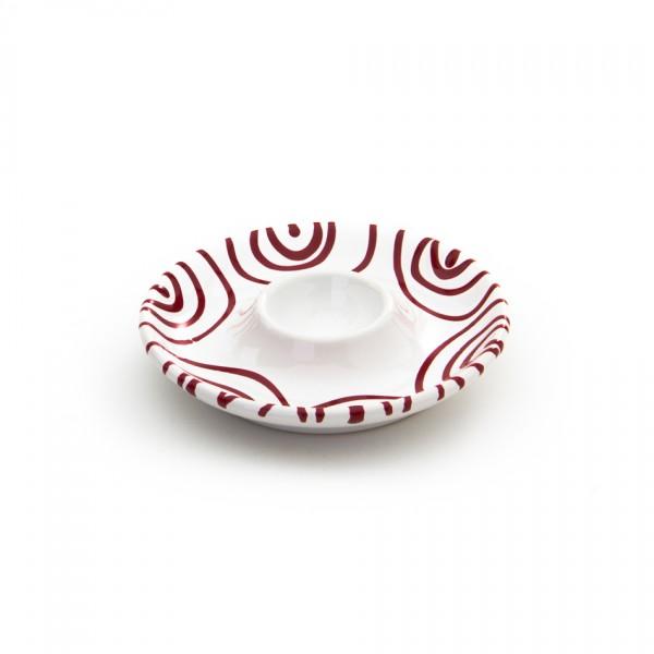 Gmundner Keramik Rotgeflammt Eierbecher glatt classic m. Abl.(BEGL12) 12 cm