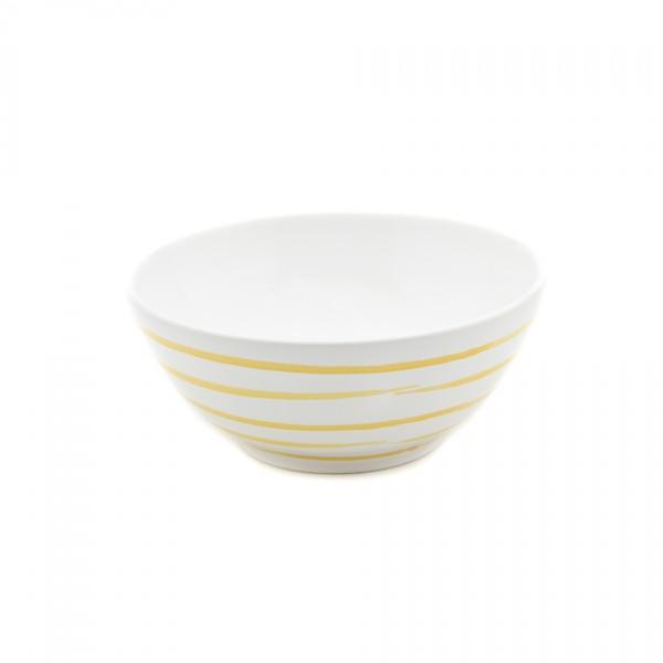 Gmundner Keramik Gelbgeflammt Schüssel rund (SUSE23) 23 cm