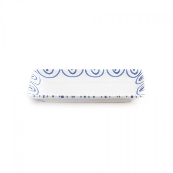 Gmundner Keramik Blaugeflammt Snack-Schale (SASN22) 22 x 11cm